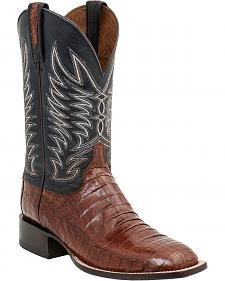 Lucchese Handcrafted 1883 Logan Caiman Belly Cowboy Boots - Crepe Sole