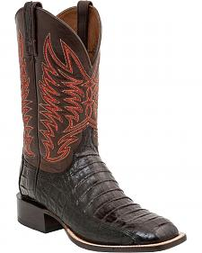 Lucchese Handcrafted 1883 Logan Caiman Belly Cowboy Boots - Square Toe
