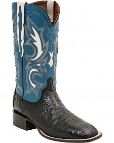 Lucchese 1883 Shiloh Caiman Belly Cowboy Boots - Square Toe