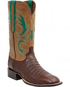 Lucchese 1883 Shiloh Caiman Belly Cowboy Boots - Square Boots