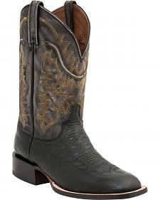 Lucchese Handcrafted 1883 Burt Smooth Ostrich Cowboy Boots - Square Toe