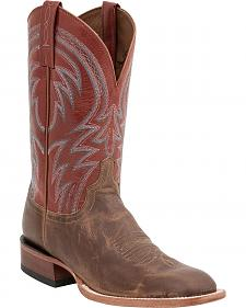 Lucchese Handcrafted 1883 Alan Smooth Cowboy Boots - Square Toe