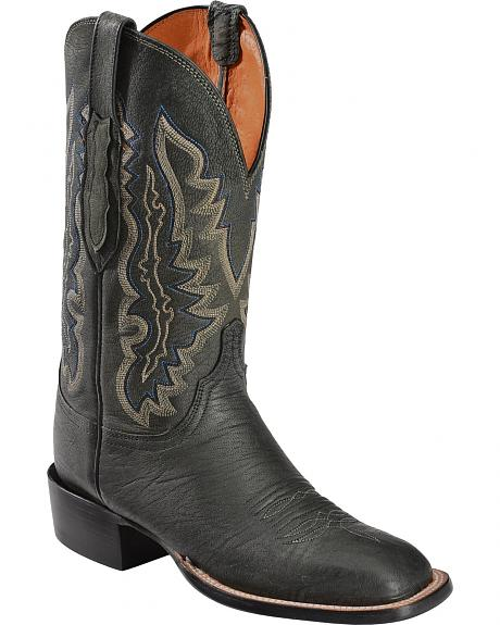 Lucchese Handcrafted 1883 Anthracite Marsh Goat Cowboy Boots - Square Toe