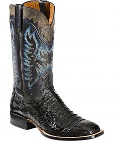 Lucchese Handmade 1883 Men's Rhys Hornback Caiman Cowboy Boots - Square Toe