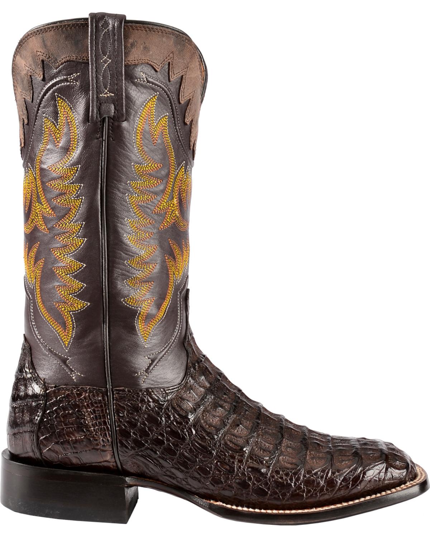 Lucchese Men's Handmade 1883 Rhys Hornback Caiman Cowboy Boot ...