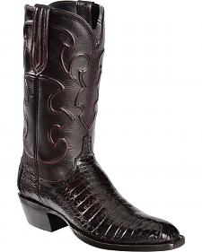 Lucchese Handmade 1883 Men's Charles Crocodile Belly Cowboy Boots - French Toe