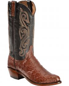 "Lucchese 13""  Quilled Ostrich Boots - Sheplers Exclusive"