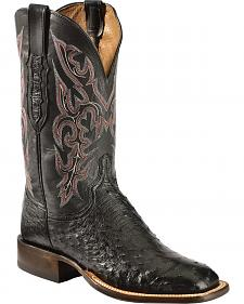 Lucchese Men's Quilled Ostrich Boots - Square Toe - Sheplers Exclusive