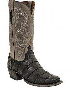 Lucchese Men's Burke Alligator Western Boots - Square Toe