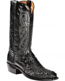 Lucchese Hornback Caiman Cowboy Boots - Square Toe - Sheplers Exclusive
