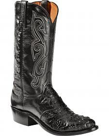 Lucchese Hornback Caiman Cowboy Boots - Round Toe - Sheplers Exclusive