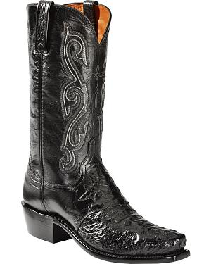 Lucchese Hornback Caiman Cowboy Boots - Narrow Square Toe - Sheplers Exclusive