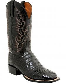 Lucchese Men's Caiman Tail Roper Boots - Square Toe