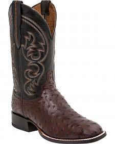 Lucchese Men's Josh Full Quill Ostrich Horseman Boots - Square Toe