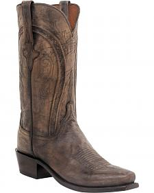 Lucchese Clint Heirloom Mad Dog Goat Boots- Square Toe