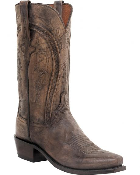 Lucchese Clint Heirloom Mad Dog Goat Boots- Snip Toe