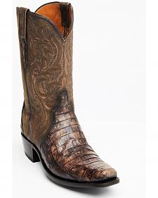 Lucchese Maple Dwight Caiman Cowboy Boots - Square Toe
