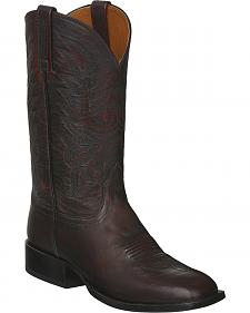 Lucchese Black Cherry Giant Calf Jason Cowboy Boots - Square Toe