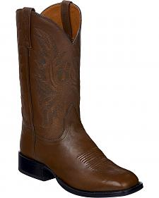 Lucchese Brown Jason Lone Star Calf Cowboy Boots - Square Toe