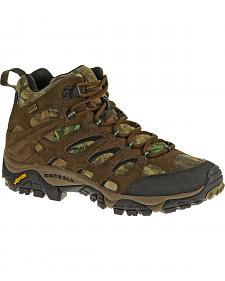 Merrell Moab Mid Waterproof Mossy Oak Camo Hiking Shoes