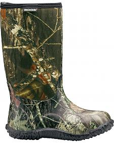 Bogs Boys' Classic High Camo Waterproof Boots