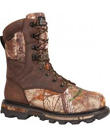 Rocky Arktos Waterproof Insulated Camo Outdoor Boots - Round Toe
