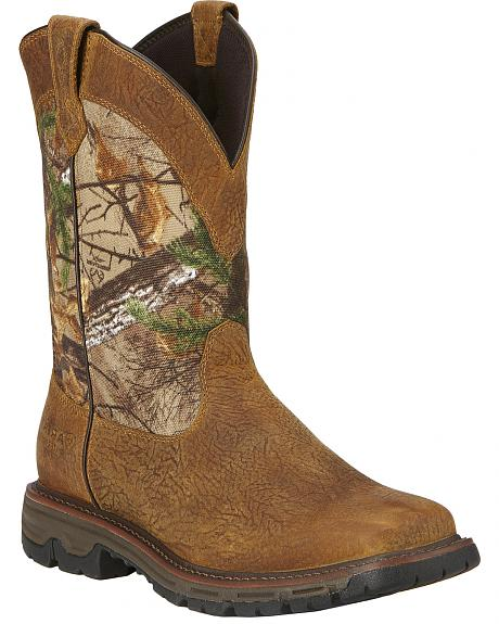 Ariat Men's Conquest H2O Pull-On Hunting Boots