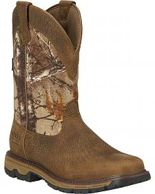 Ariat Men's Conquest H2O 400g Insulated Pull-On Hunting Boots