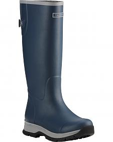 Ariat Women's Navy Fernlee Rubber Outdoor Boots