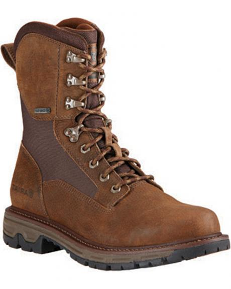 Ariat Men's Pebbled Conquest Waterproof Hunting Boots - Round Toe