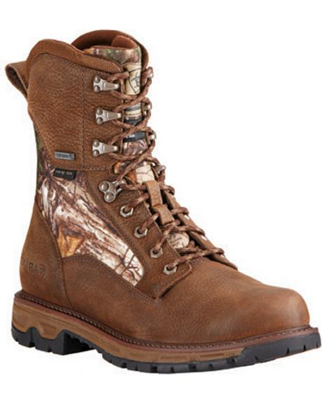 Ariat Men's Insulated Conquest Waterproof Camo Hunting Boots - Round Toe