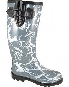 Smoky Mountain Women's Dancing Horses Waterproof Boots
