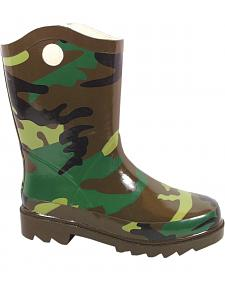 Smoky Mountain Boys' Camo Buckaroo Waterproof Boots