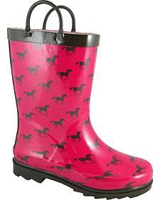 Smoky Mountain Girls' Ponies Waterproof Boots