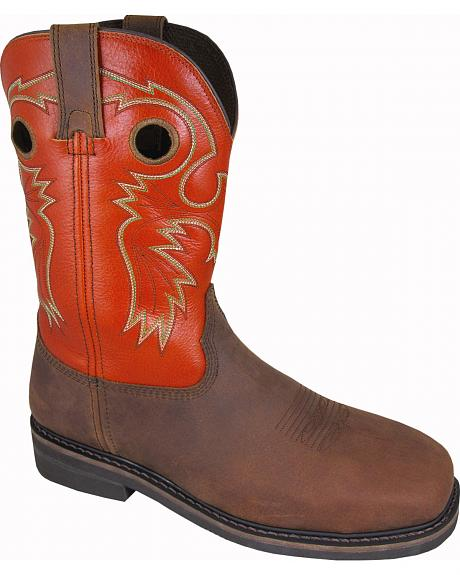Smoky Mountain Men's Grizzly Western Work Boots - Steel Toe