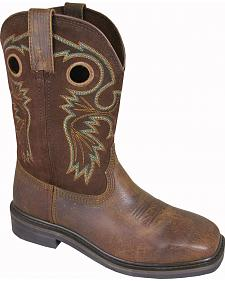 Smoky Mountain Men's Grizzly Leather Western Boots - Square Toe