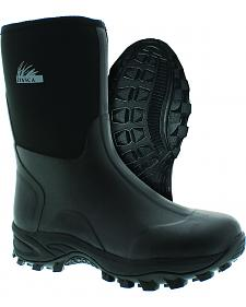 Itasca Men's Everglades Bayou Black Rubber Boots