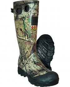 Ducks Unlimited Men's Swampwalker 400 Realtree Xtra Camo Rubber Boots