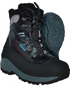 Itasca Women's Black Sleigh Bell Winter Boots - Round Toe