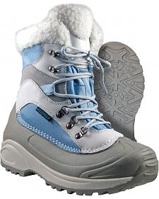 Itasca Women's Blue Sleigh Bell Winter Boots - Round Toe
