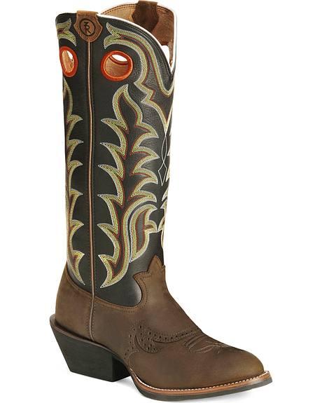 Tony Lama 3R Series Buckaroo Boots - Round Toe