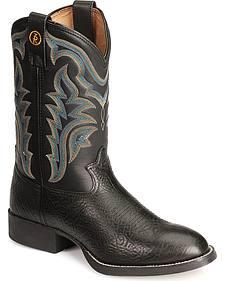 Tony Lama 3R Series Western Stockman Boots - Round Toe