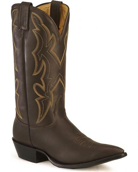 Nocona Lux leather cowboy boots - needle pointed toe