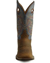 Justin Stampede Punchy Men S Cowboy Boots Square Toe