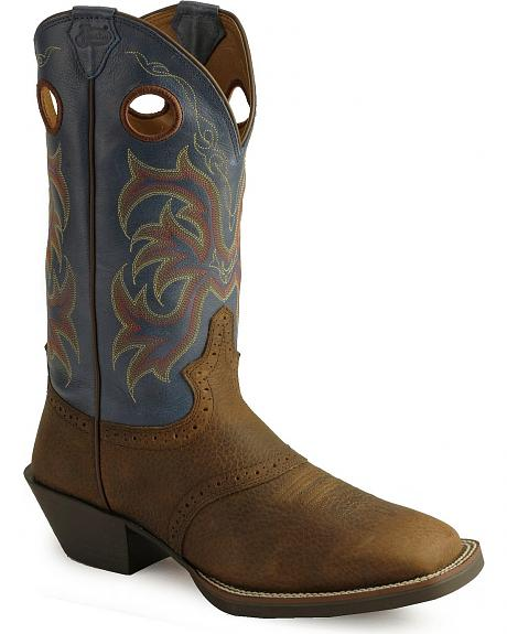 Justin Stampede Punchy Men's Cowboy Boots - Square Toe