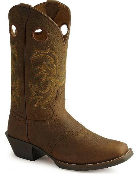 Justin Men's Punchy Stampede Cowboy Boots - Square Toe