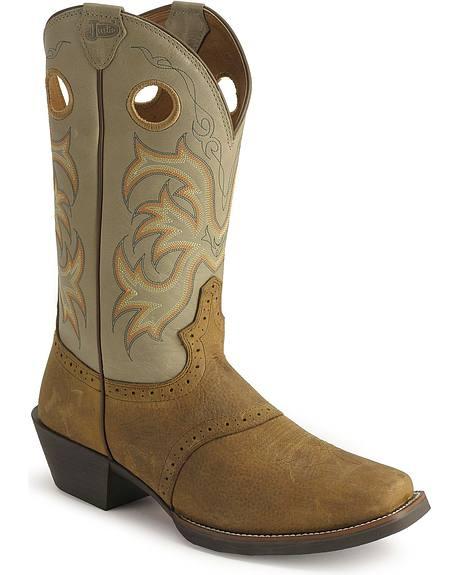 Justin Men's Stampede Punchy Cowboy Boots