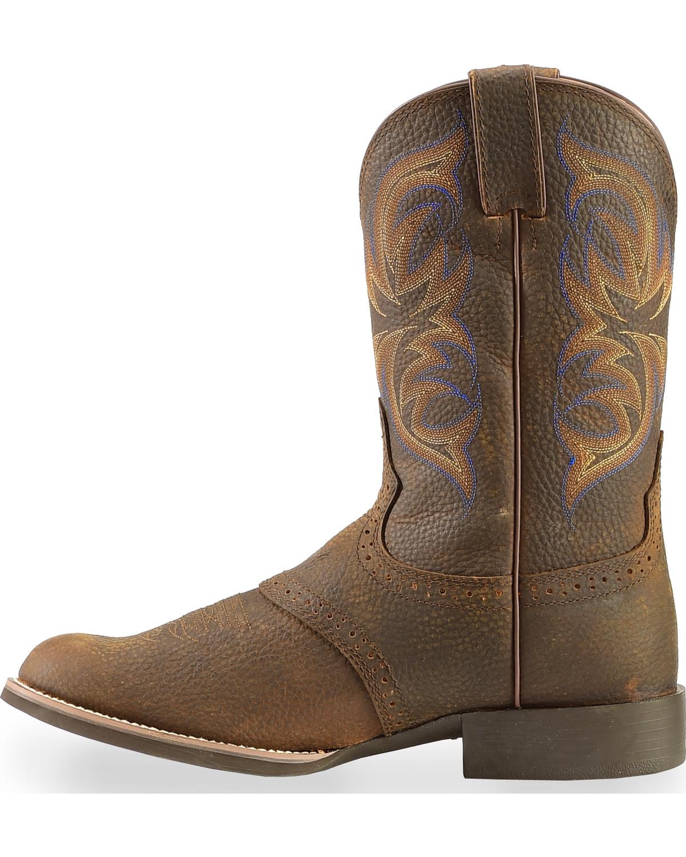 Justin Men S Stampede Cattleman Cowboy Boot Round Toe