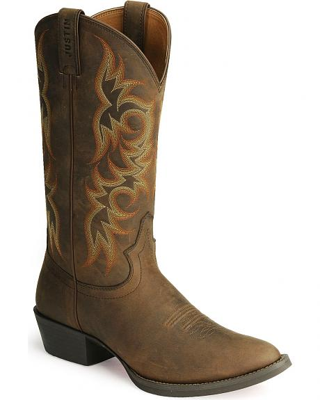 Justin Stampede Western Apache Cowboy Boot - Med Toe