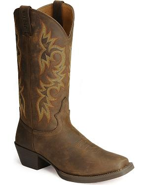 Justin Stampede Western Apache Cowboy Boots - Square Toe